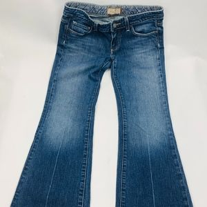 Paige Womens Laurel Canyon Sz 28 Blue 5 Pocket